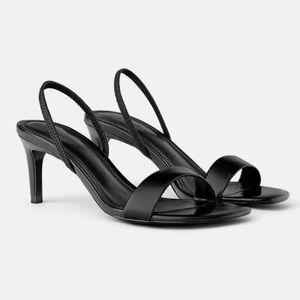 Zara Black Slingback sandal heel